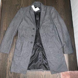 Men's Gray Wool Coat